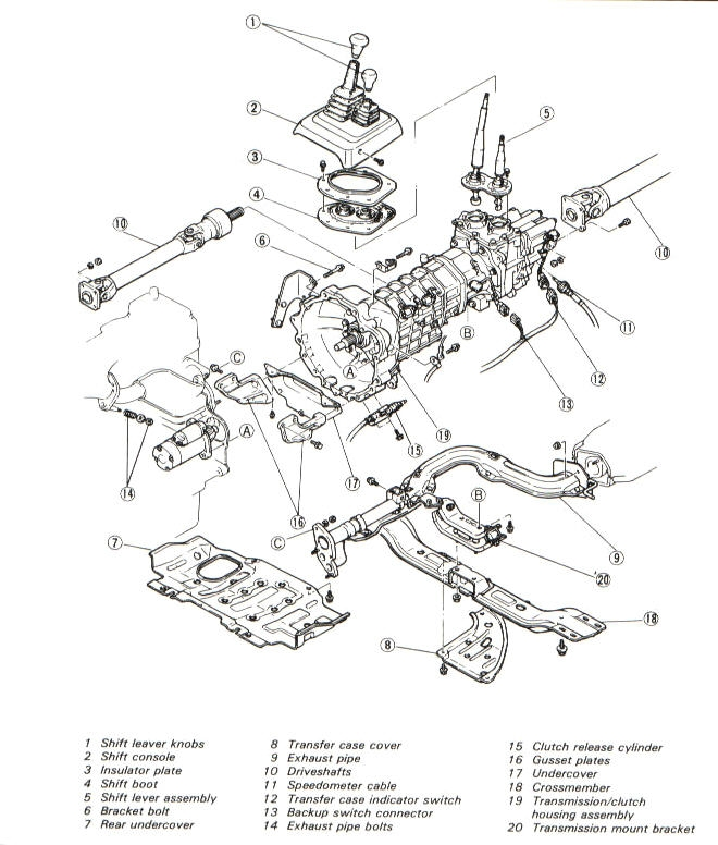 Hewland MK Series Bearing Carrier Assembly besides 441184 Park Neutral Safety Switch further Ferguson Te20 Tractor Manual Haynes H5010 18065 P likewise Onan Carburetor  ponents moreover Mazda trk 72 93 trans drvtrn. on manual transmission components