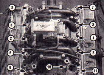 Intake manifold torque sequence-SOHC engine